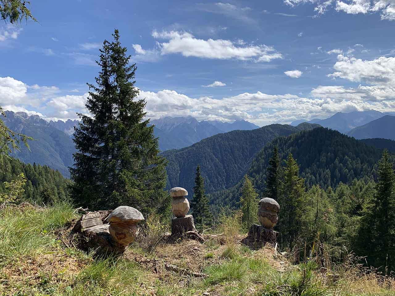 Pian dei Buoi sculture legno