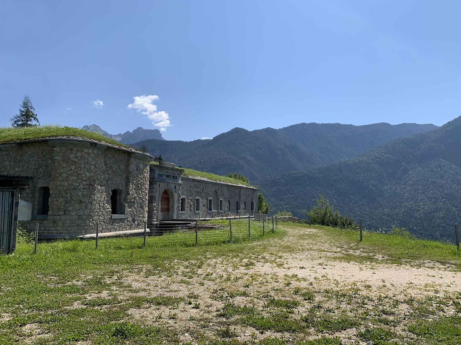 Forte di Monte Ricco - facciata