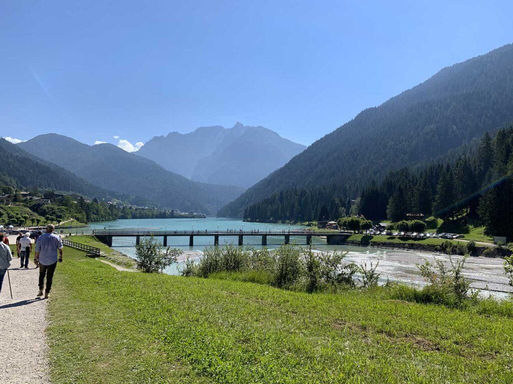 Lago Auronzo vista del ponte Transacqua