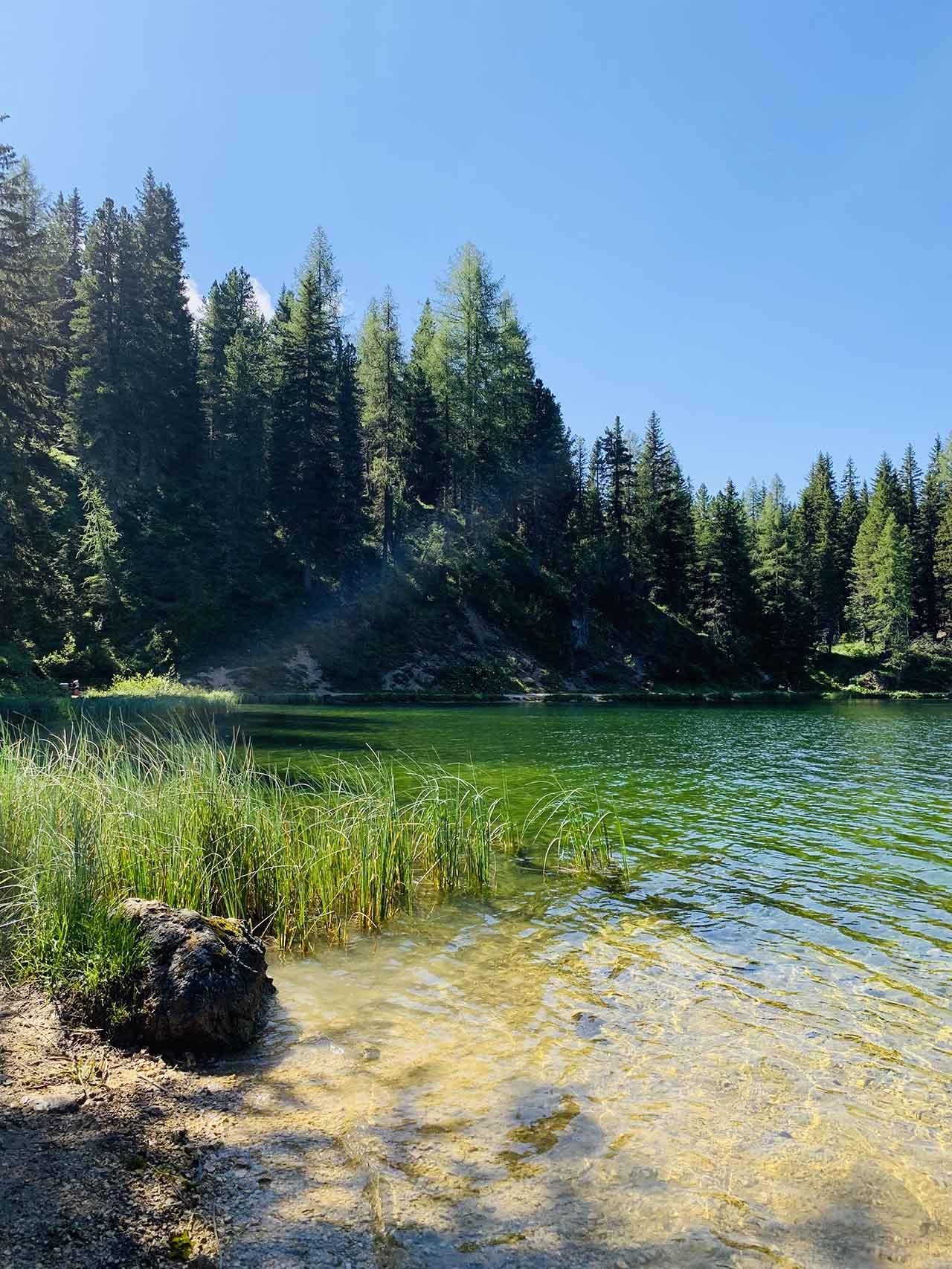 Misurina percorso del lago