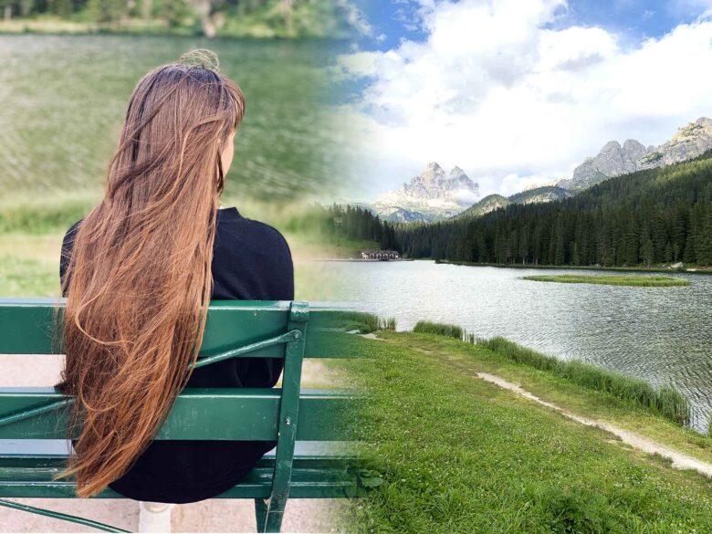 la principessa Misurina sull'omonimo lago