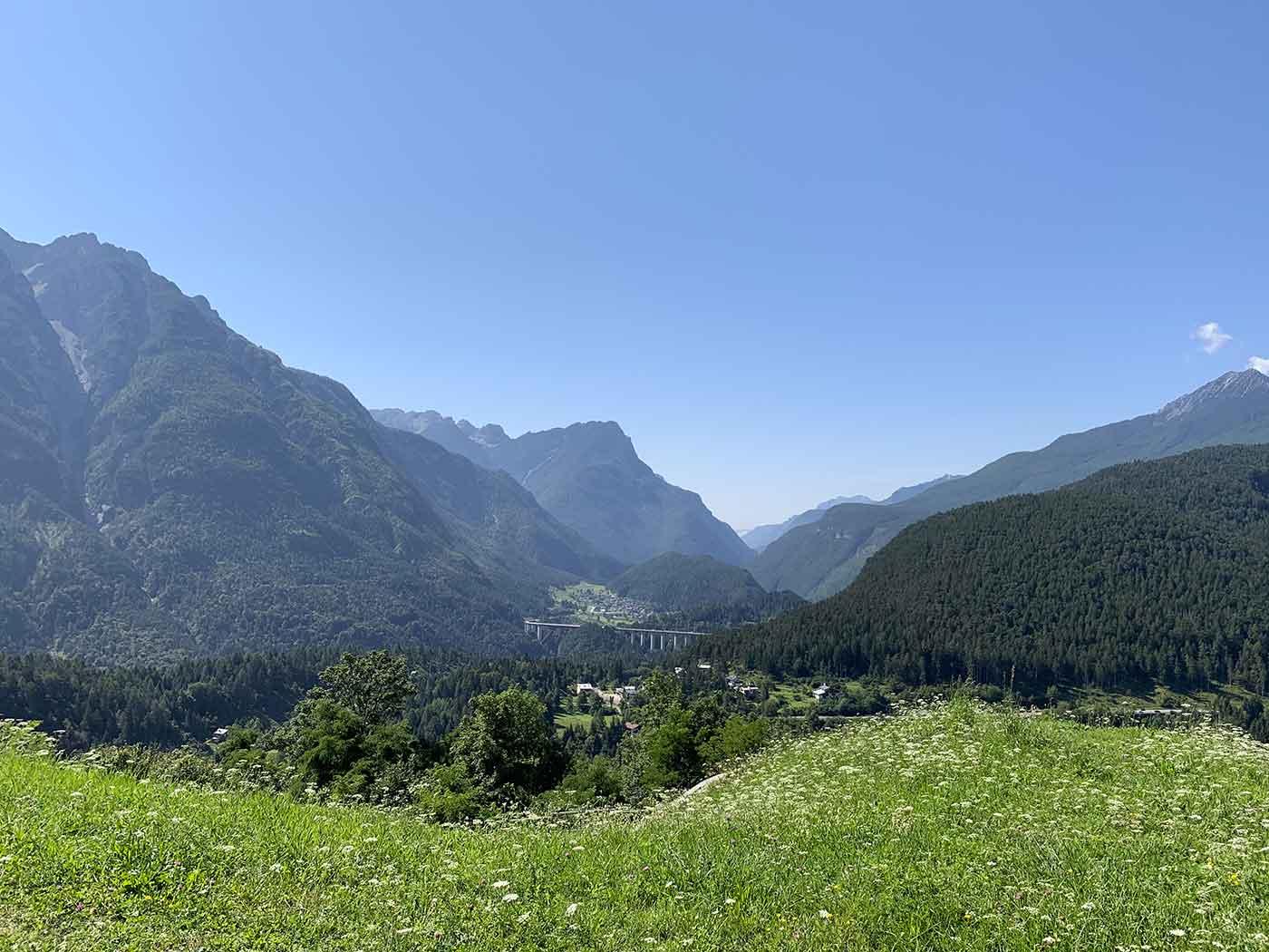 Forte di Monte ricco - vista