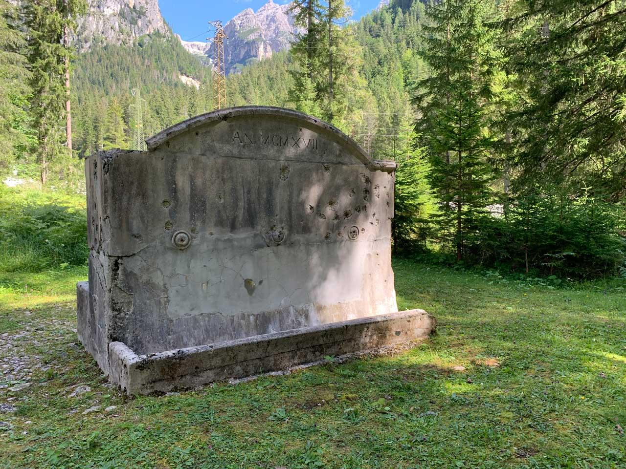 Auronzo-storia-Val-Marzon-fontana-Cason-de-la-Crosera