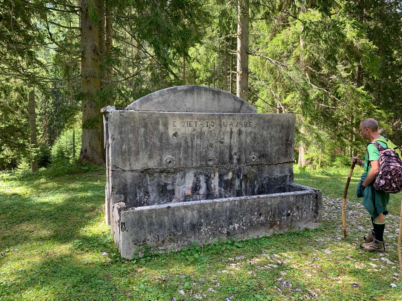 Auronzo-storia-Val-Marzon-fontana-al-Cason-de-la-Crosera