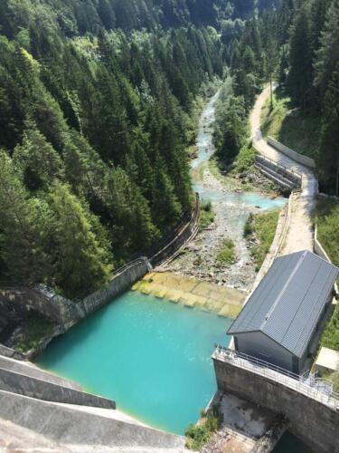 Auronzo di Cadore vista della cascata della diga